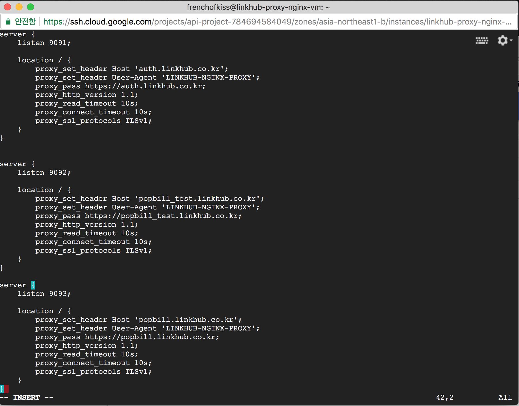 nginx proxy configuration